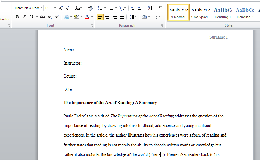 Writing an introduction paragraph for a research paper