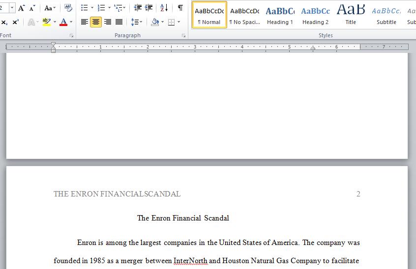 Enron financial scandal