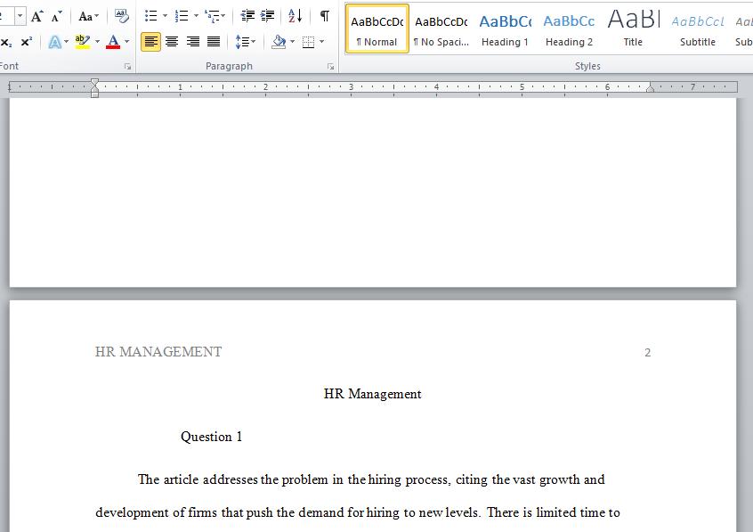human resource management case study
