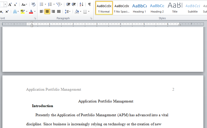application portfolio management APM