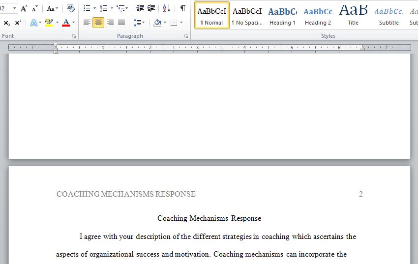 coaching mechanisms