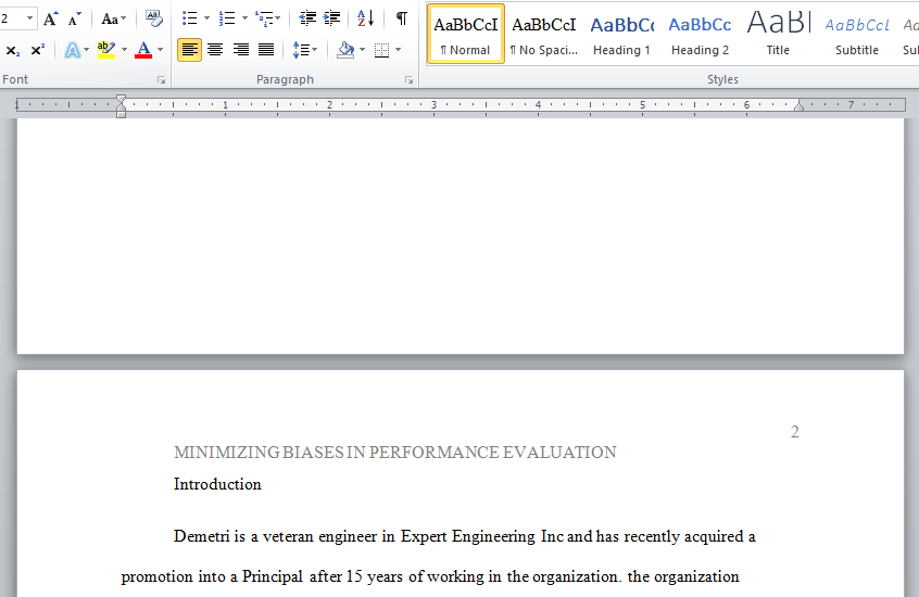 minimizing biases in performance evaluation
