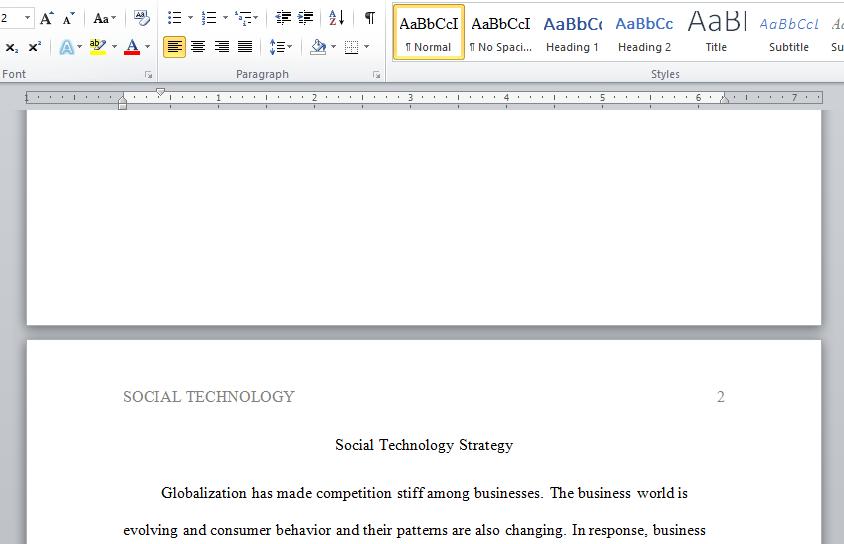 social technology strategy