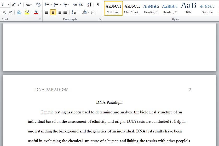 DNA paradigm