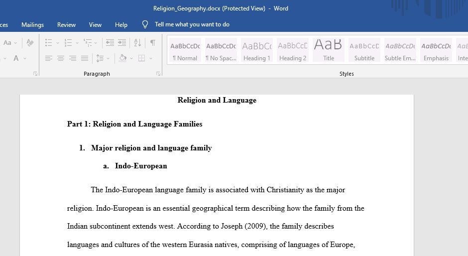 Religion and language