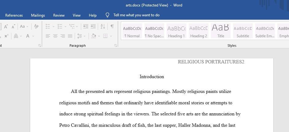 Portraiture and Representations of Religious figures and their interpretation