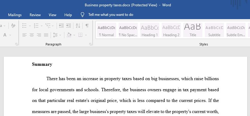 Business Property Taxes