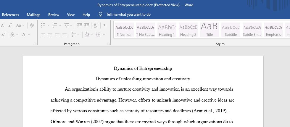 Describe the dynamics of unleashing innovation and creativity