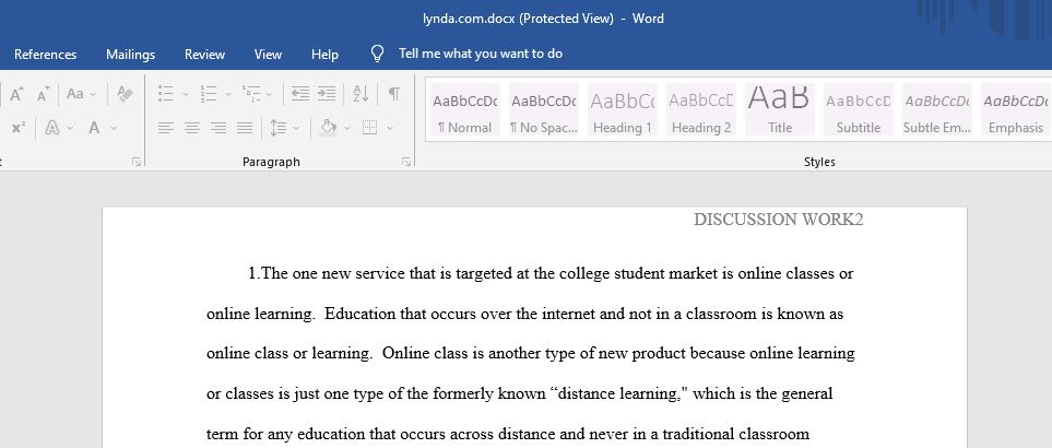 Provide one example of a new product or service that is targeted at the college student market.