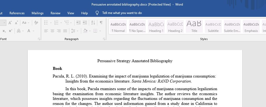 Persuasive Strategy Annotated Bibliography