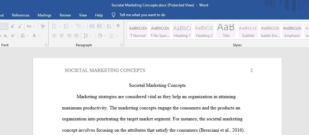 What is the Societal Marketing concept