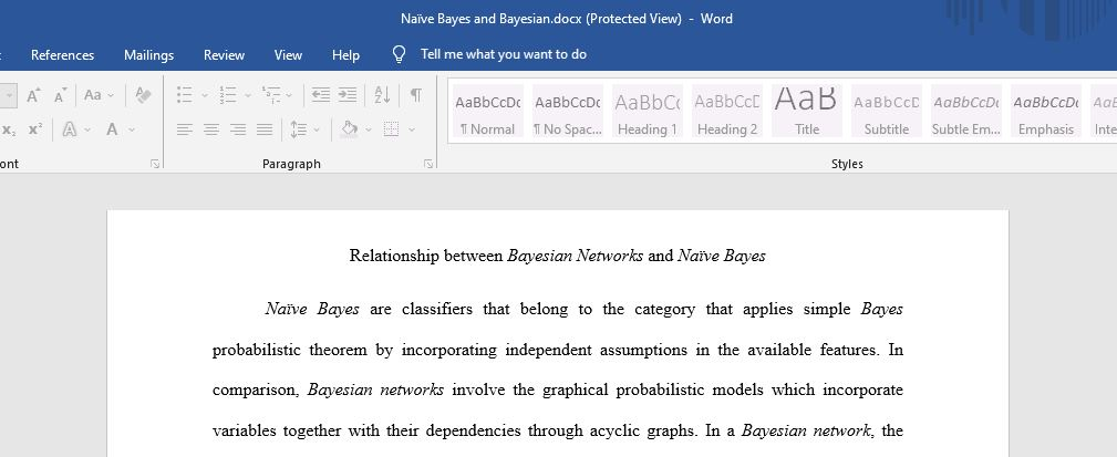 Relationship between Bayesian Networks and Naïve Bayes