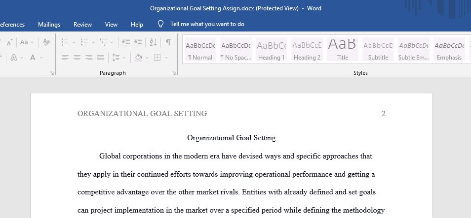 Effective organizational goal setting is integral for steady market performance as it triggers a more explicit focus, enables optimal resource use,