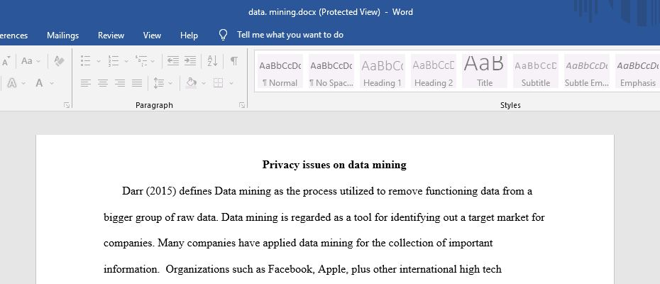 Privacy issues on data mining