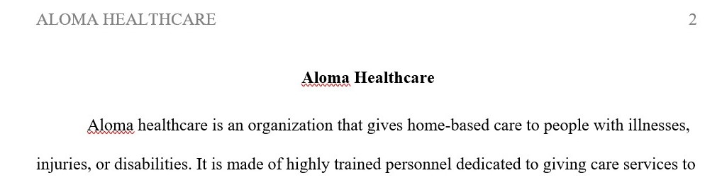 Aloma Healthcare